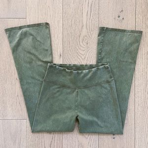 Aerie chill crop flare high waisted leggings